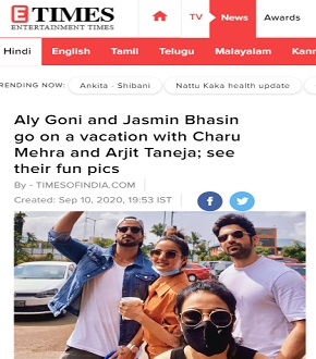 Aly Goni and Jasmin Bhasin go on a vacation with Charu Mehra and Arjit Taneja