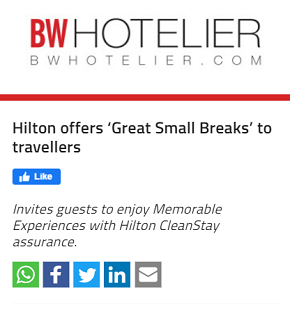 Hilton offers 'Great Small Breaks' to travellers