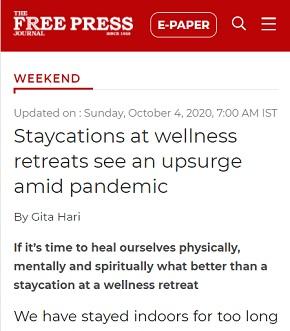 Staycations at wellness retreats see an upsurge amid pandemic