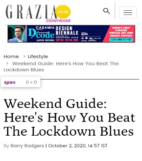Weekend Guide: Here's how you beat the lockdown blues